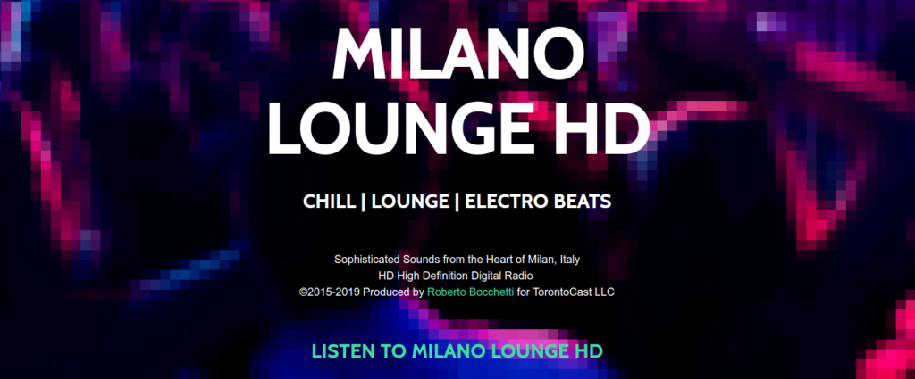 Discover Milano Lounge HD - High Definition Digital Radio, for the maximum pleasure!