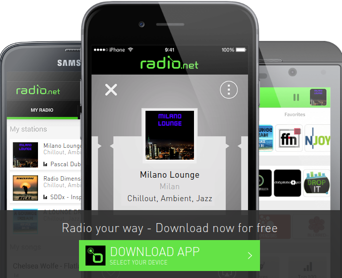 Listen to Milano Lounge with Radio.net app
