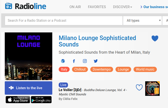 Milano Lounge is now available on Radioline