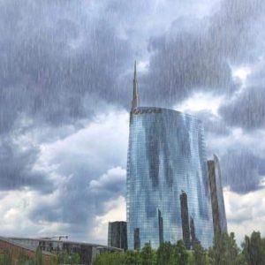 Rain in Milan - Unicredit Building